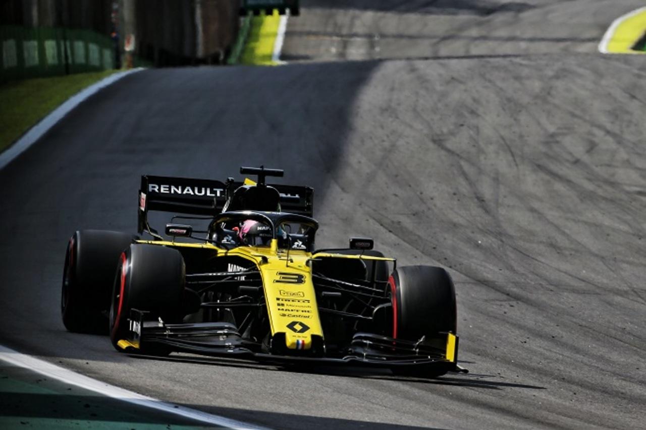 Daniel Ricciardo contento con el resultado en Brasil.