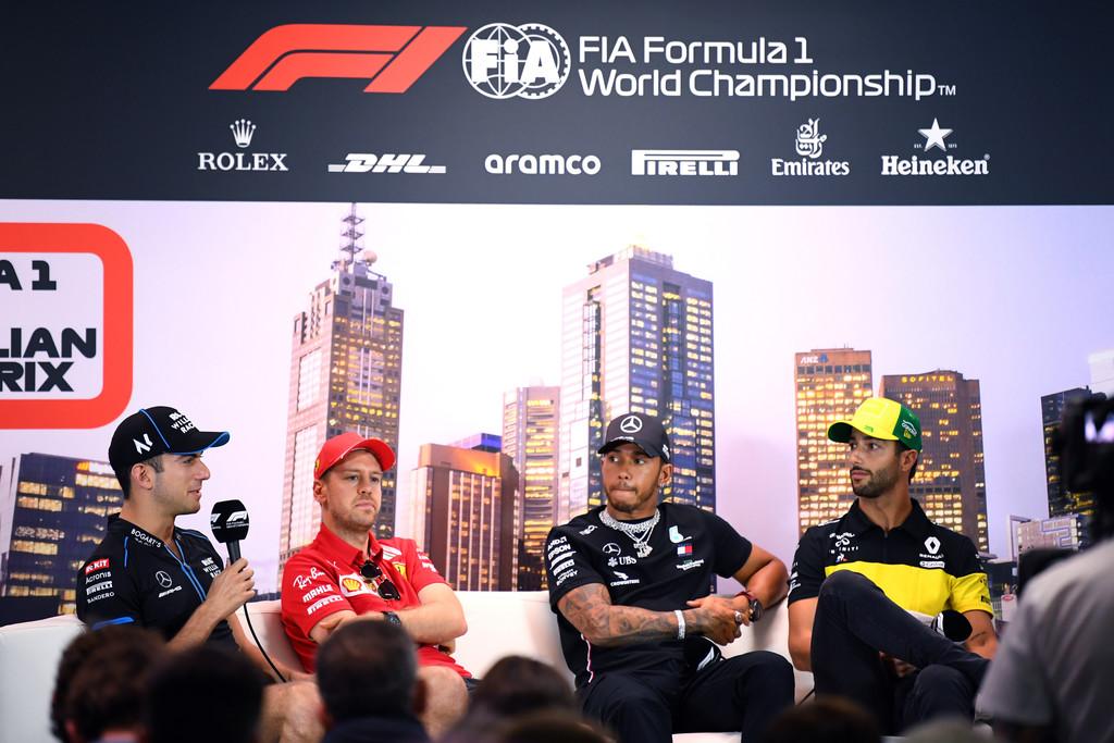 Latifi, Vettel, Hamilton, Ricciardo
