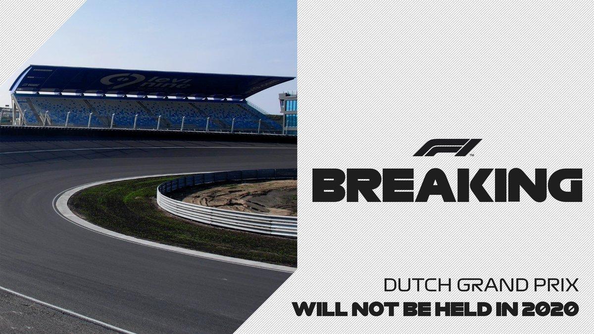 El Gran Premio de Holanda no se realizará en 2020