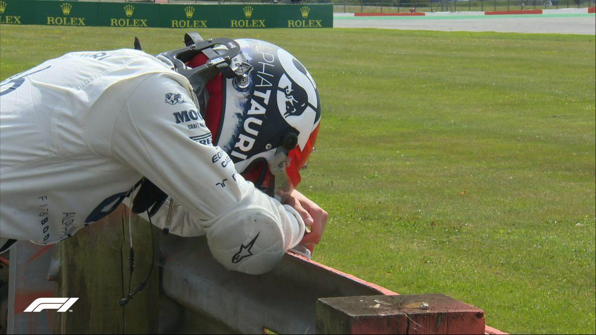 Kvyat pierde el control en el Gran Premio de Silverstone