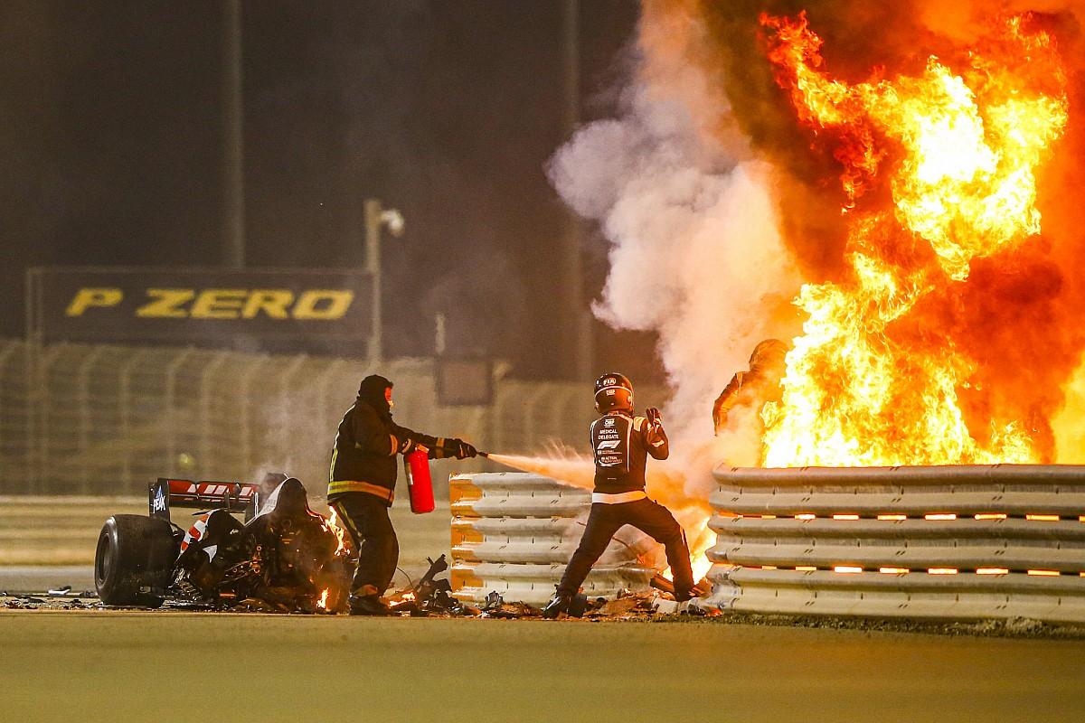 Crónica de un milagro| Grosjean relató cómo vivió el accidente en Bahrein