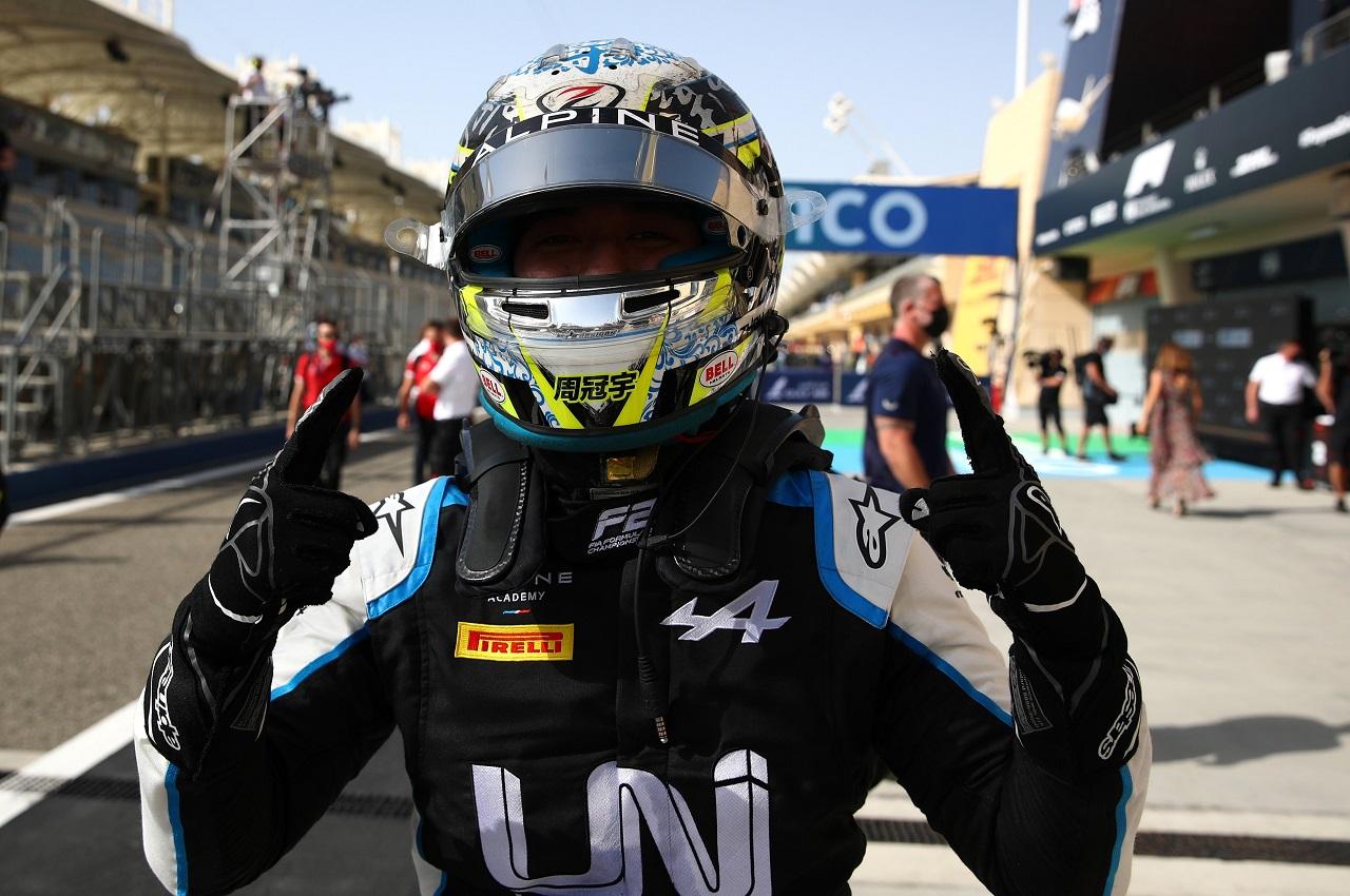 Guanyu Zhou ganó la carrera Feature de la F2