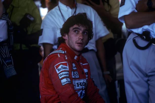 Ayrton Senna, Grand Prix of Japan, Suzuka, 21 October 1990. (Photo by Paul-Henri Cahier/Getty Images)