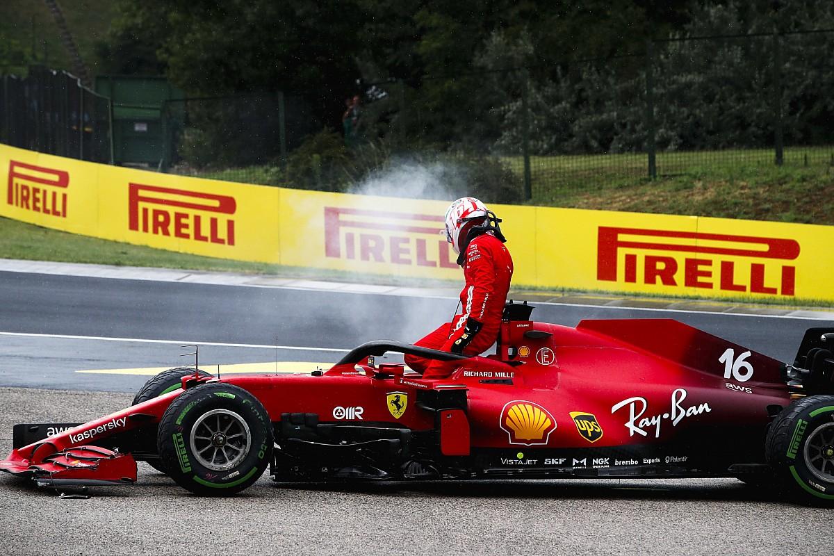 Ferrari confirma que el motor de Leclerc es irrecuperable