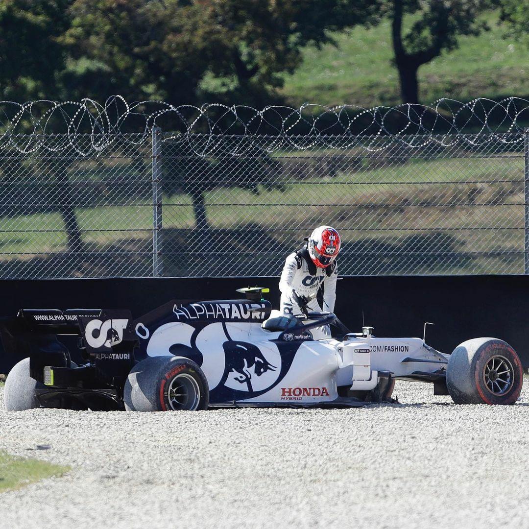 Susto para Pierre Gasly en la carrera sprint del Gran Premio de Monza